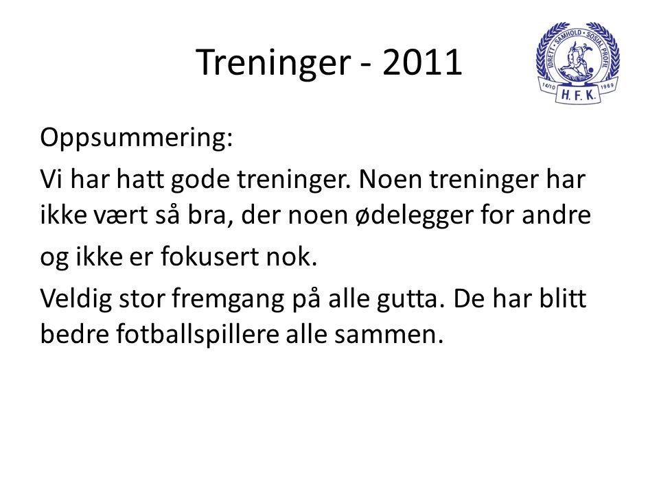 Treninger - 2011