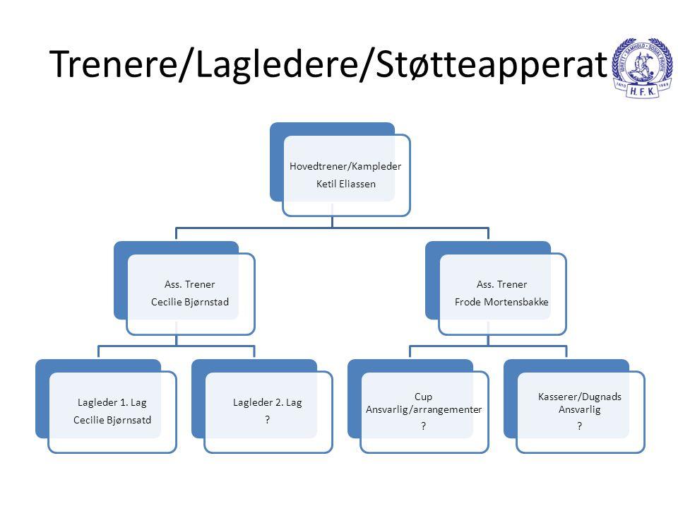 Trenere/Lagledere/Støtteapperat