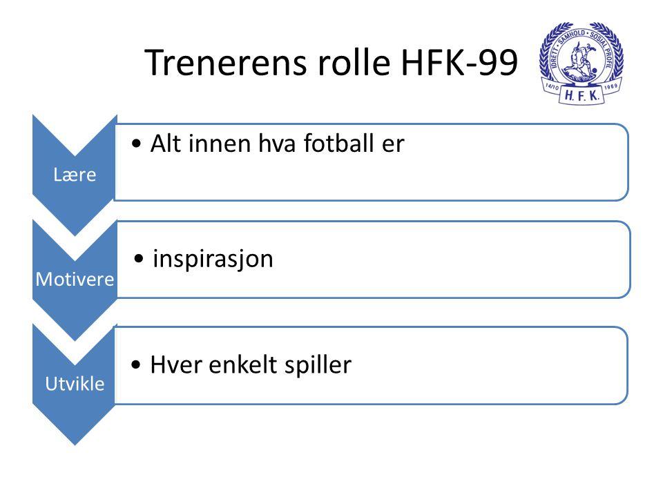 Trenerens rolle HFK-99 Alt innen hva fotball er inspirasjon