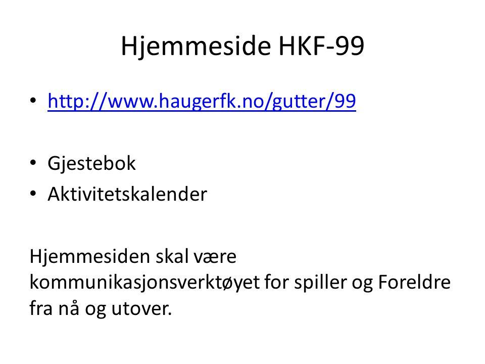 Hjemmeside HKF-99 http://www.haugerfk.no/gutter/99 Gjestebok