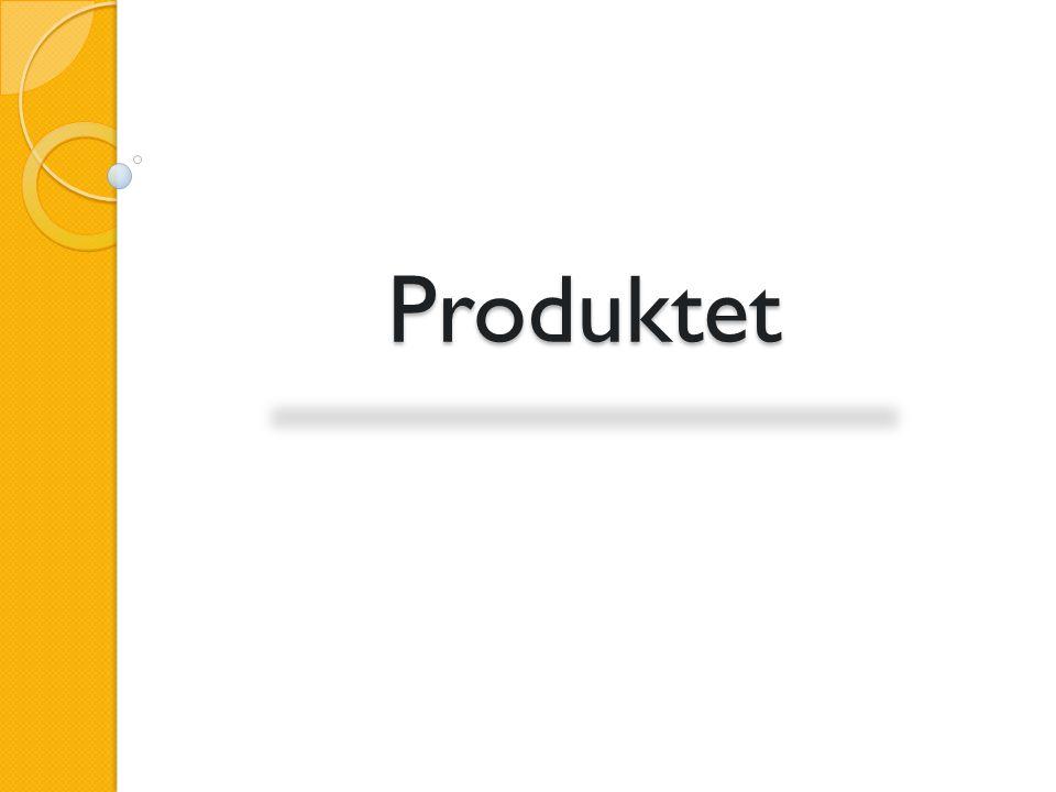 Produktet Introduksjon Teknisk om produktet Demonstrasjon