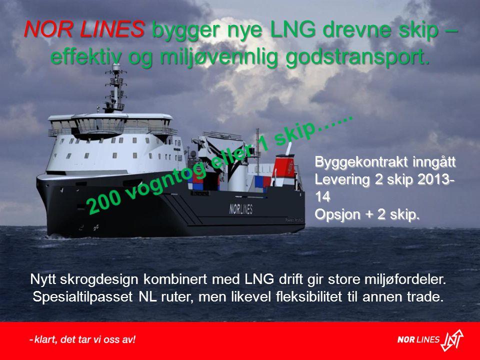 NOR LINES bygger nye LNG drevne skip – effektiv og miljøvennlig godstransport.