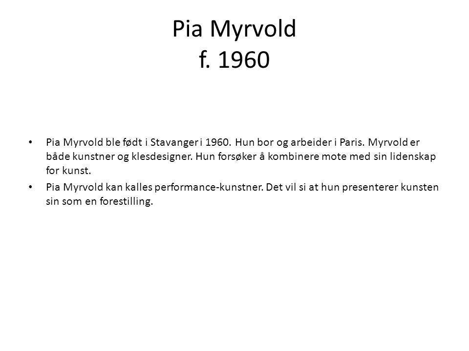 Pia Myrvold f. 1960
