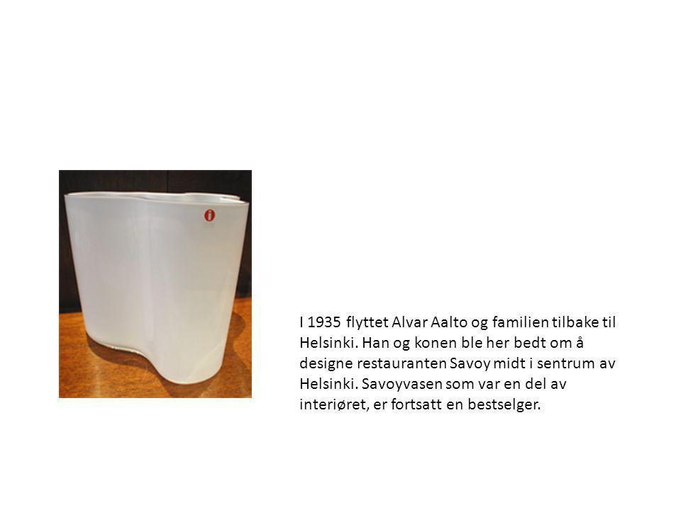 I 1935 flyttet Alvar Aalto og familien tilbake til Helsinki
