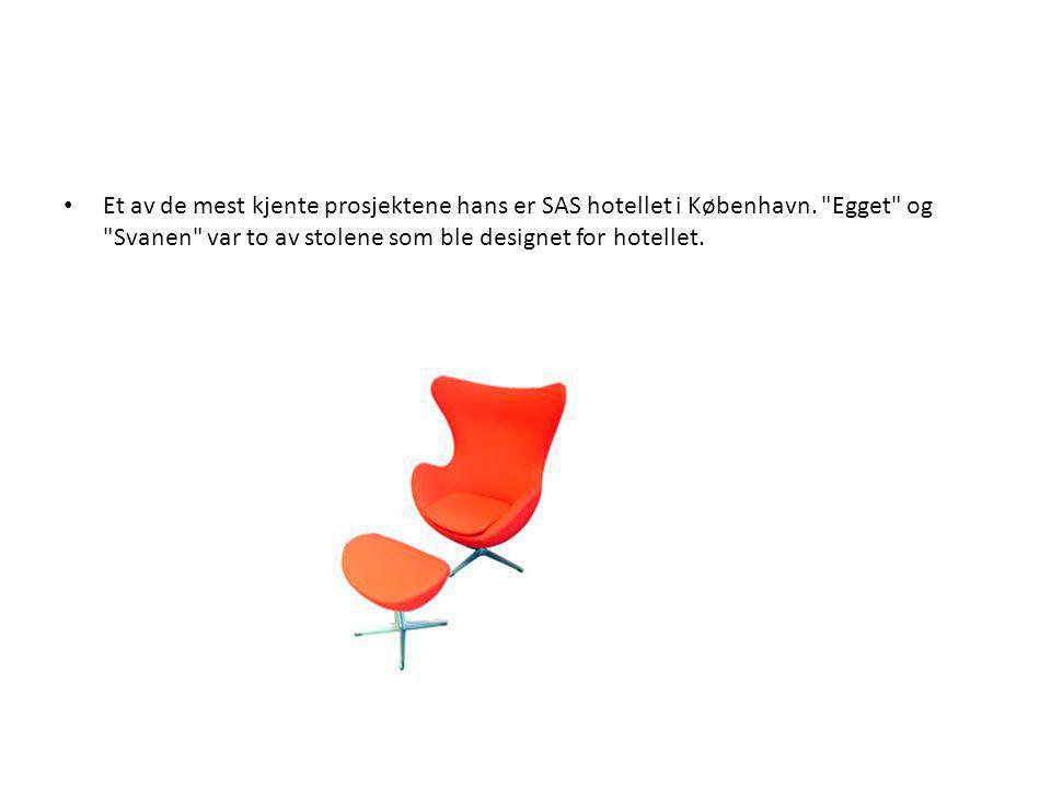 Et av de mest kjente prosjektene hans er SAS hotellet i København