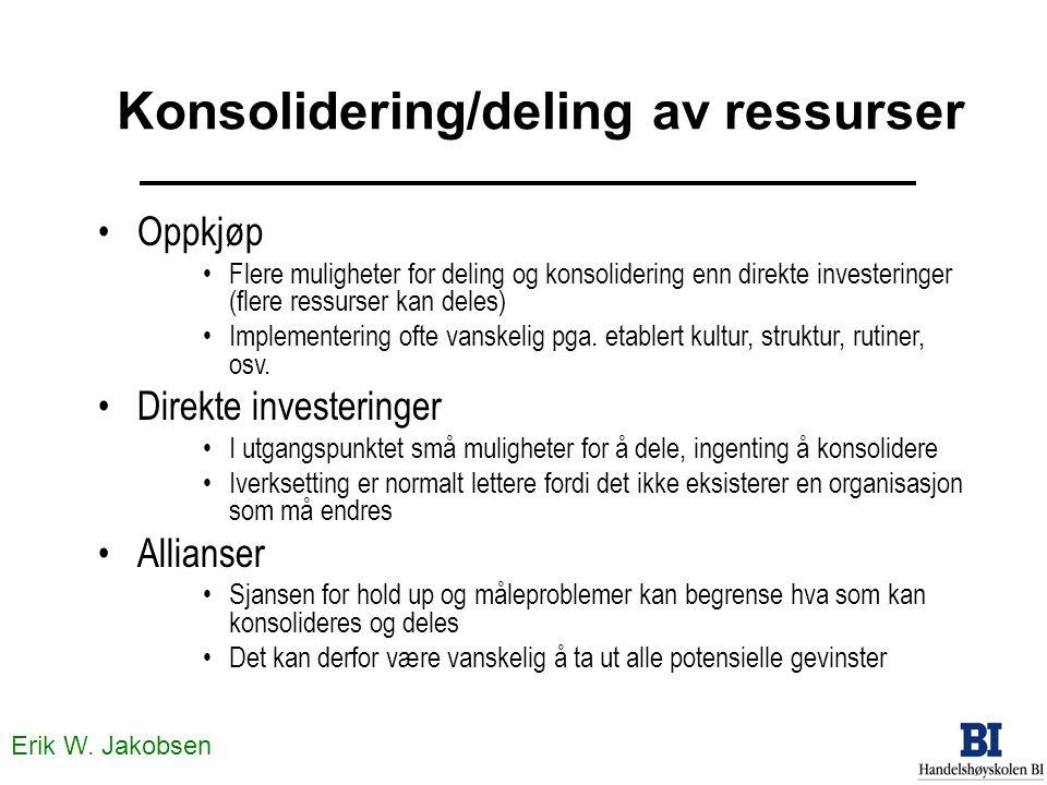 Konsolidering/deling av ressurser