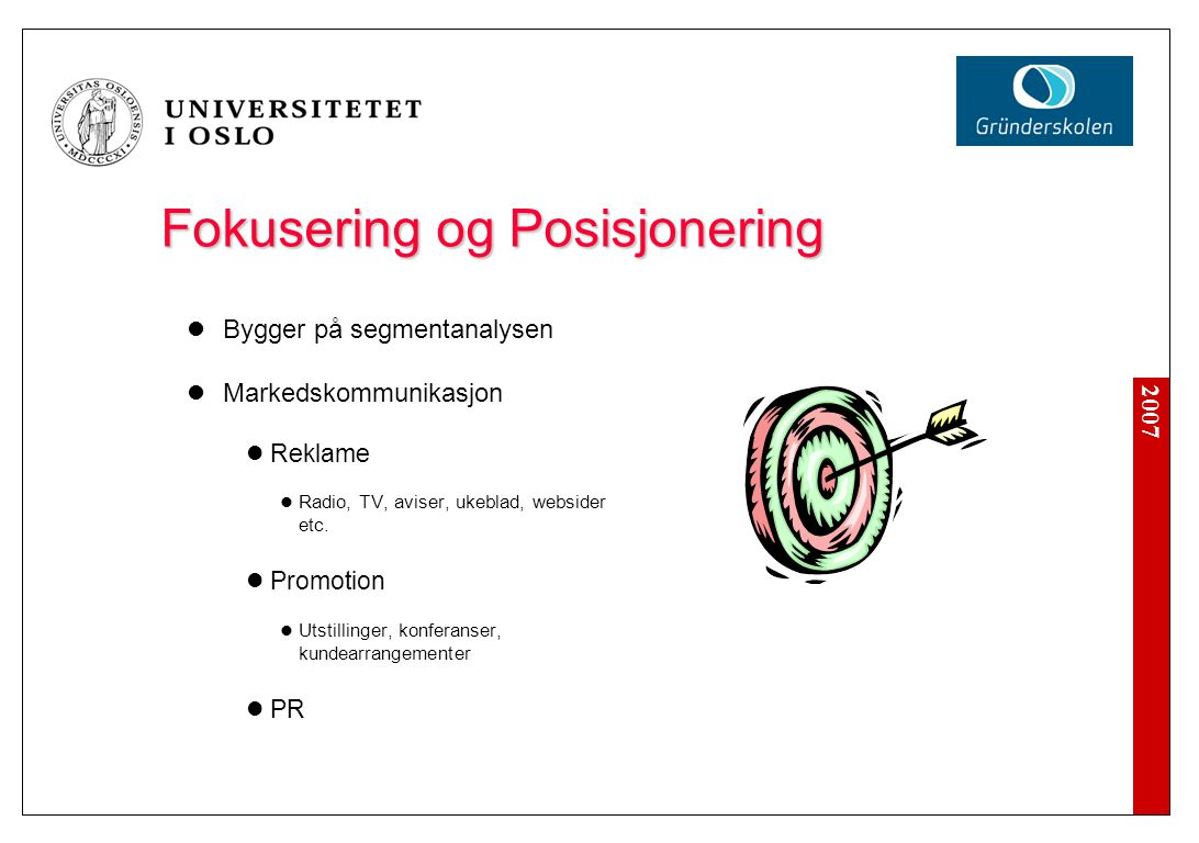 Markesføringsmixen (Marketing mix)