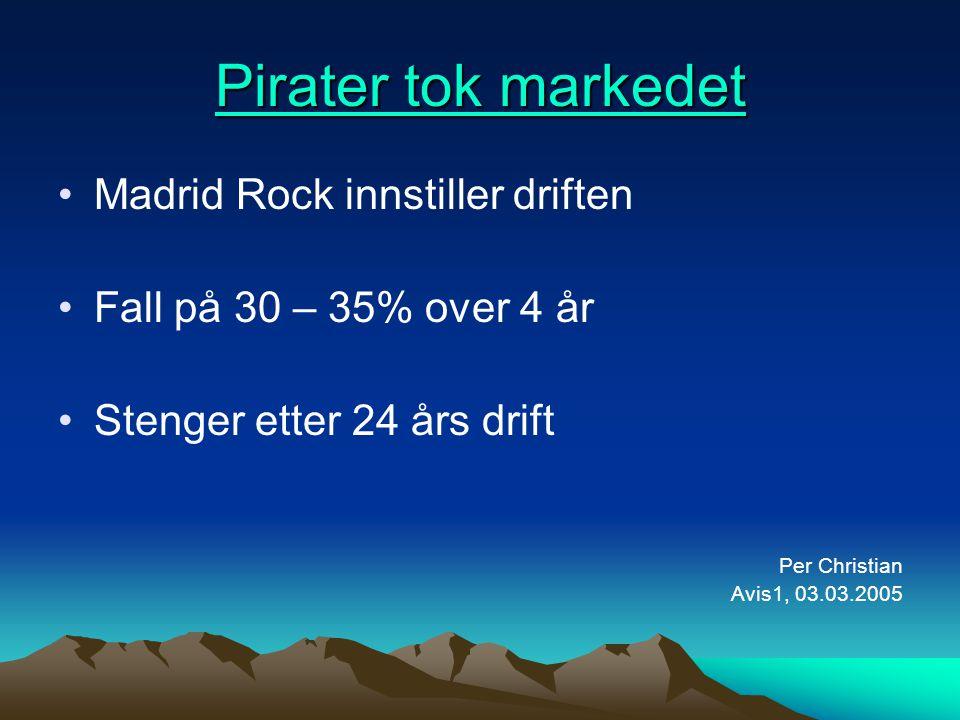 Pirater tok markedet Madrid Rock innstiller driften
