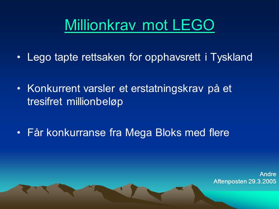 Millionkrav mot LEGO Lego tapte rettsaken for opphavsrett i Tyskland