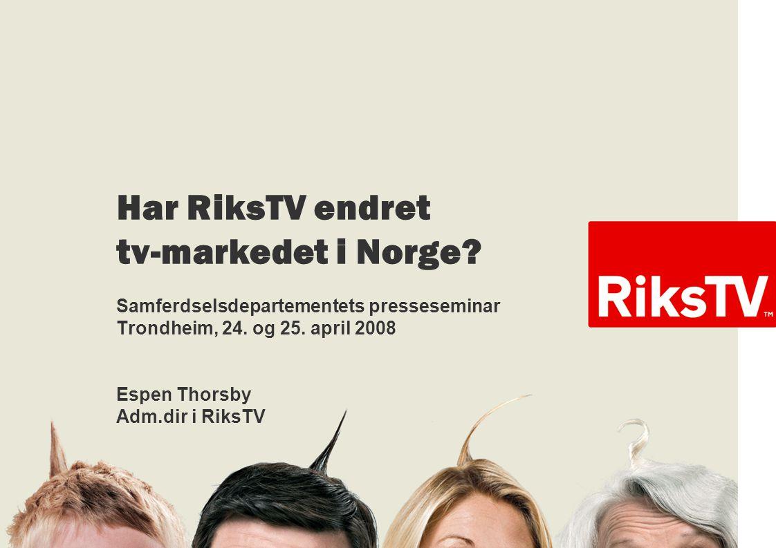 Har RiksTV endret tv-markedet i Norge