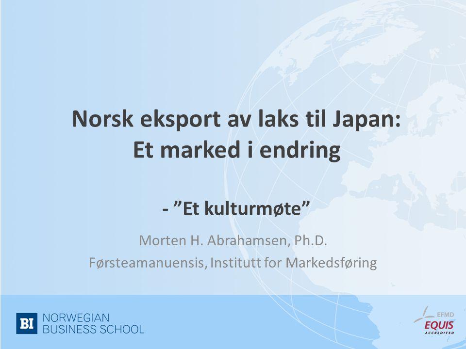 Norsk eksport av laks til Japan: Et marked i endring - Et kulturmøte