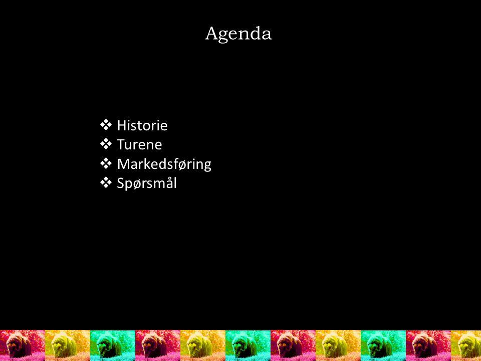 Agenda Historie Turene Markedsføring Spørsmål