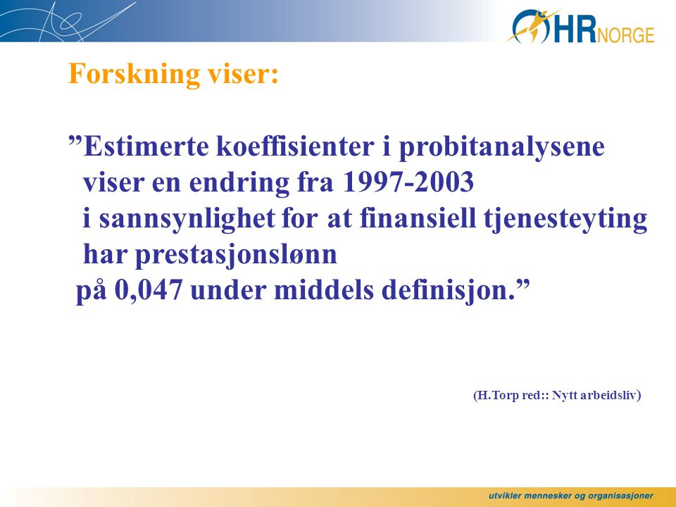 Estimerte koeffisienter i probitanalysene