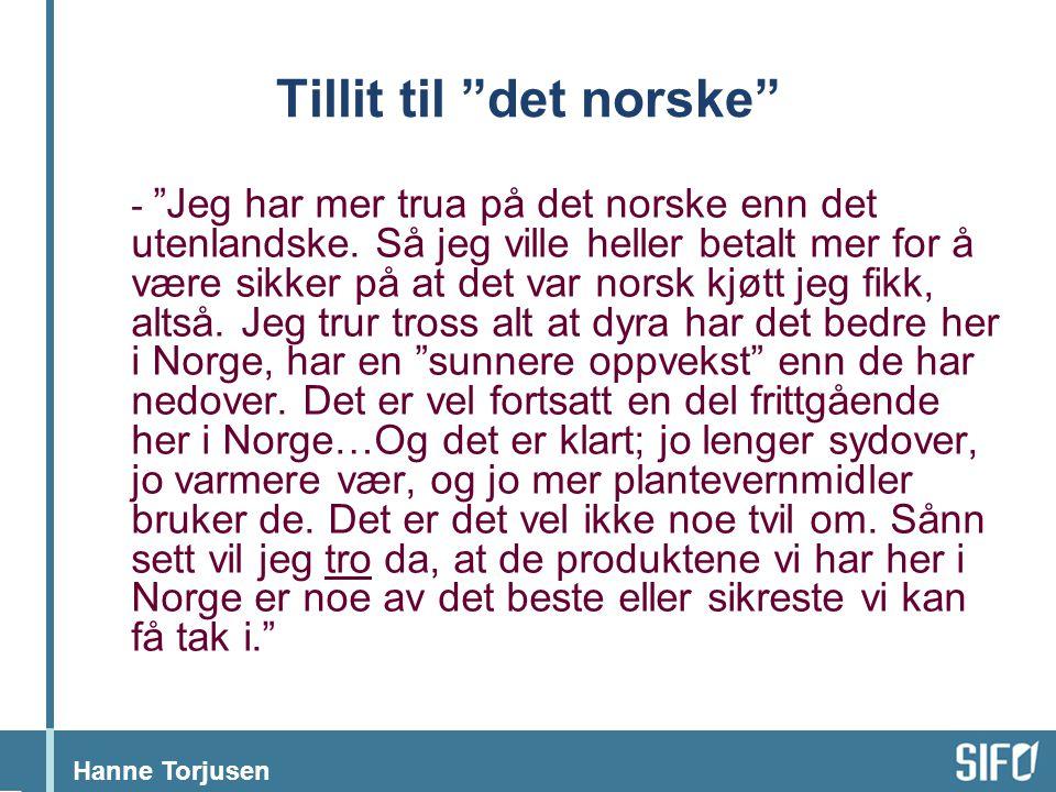 Tillit til det norske