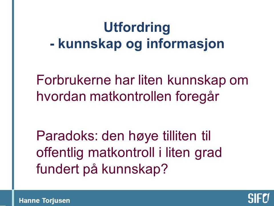 Utfordring - kunnskap og informasjon