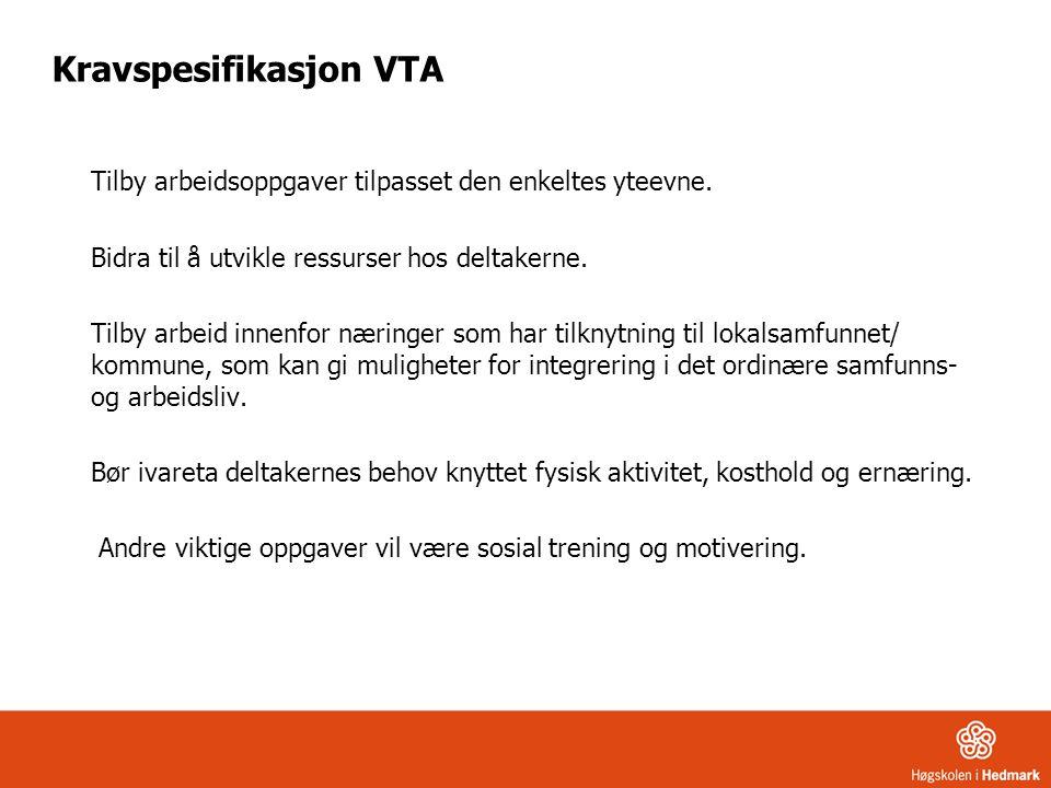 Kravspesifikasjon VTA