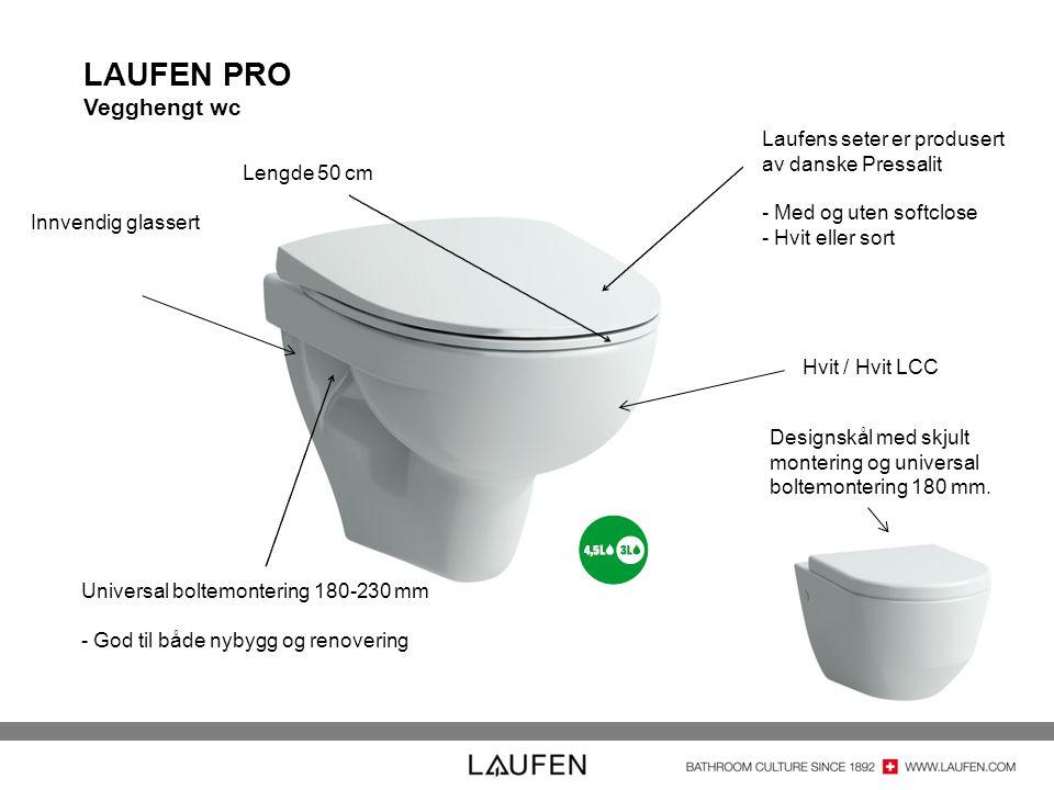 LAUFEN PRO Vegghengt wc