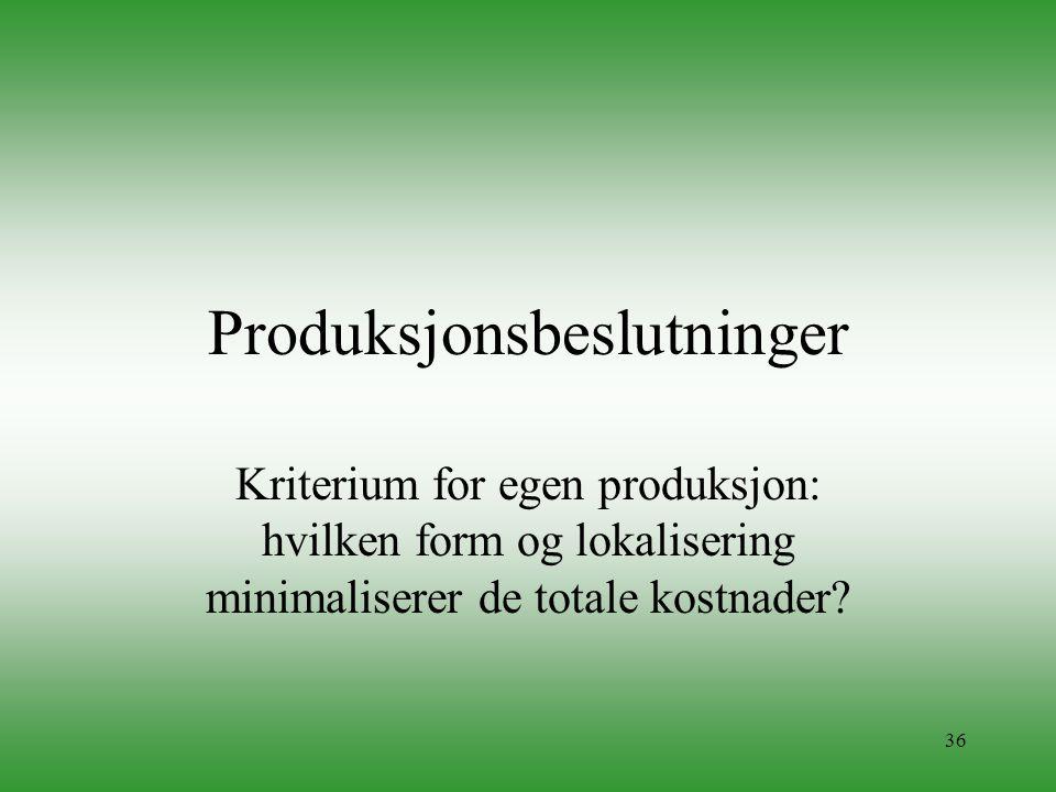 Produksjonsbeslutninger