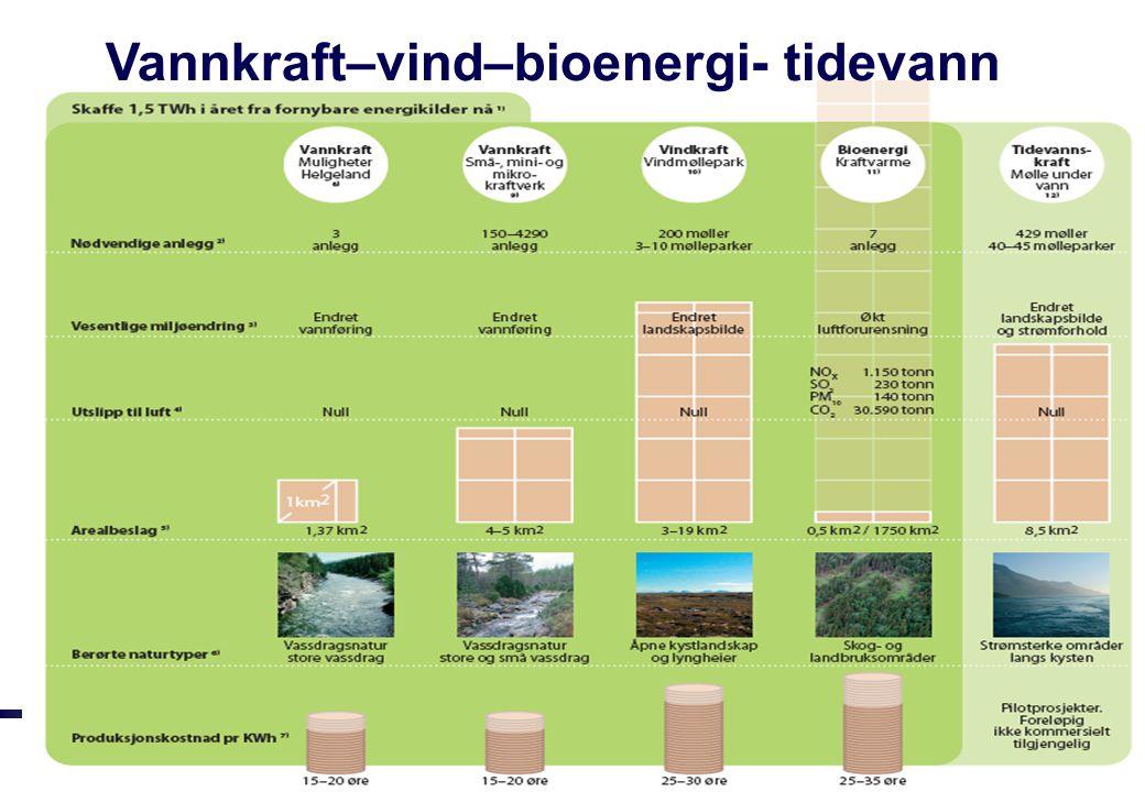 Vannkraft–vind–bioenergi- tidevann