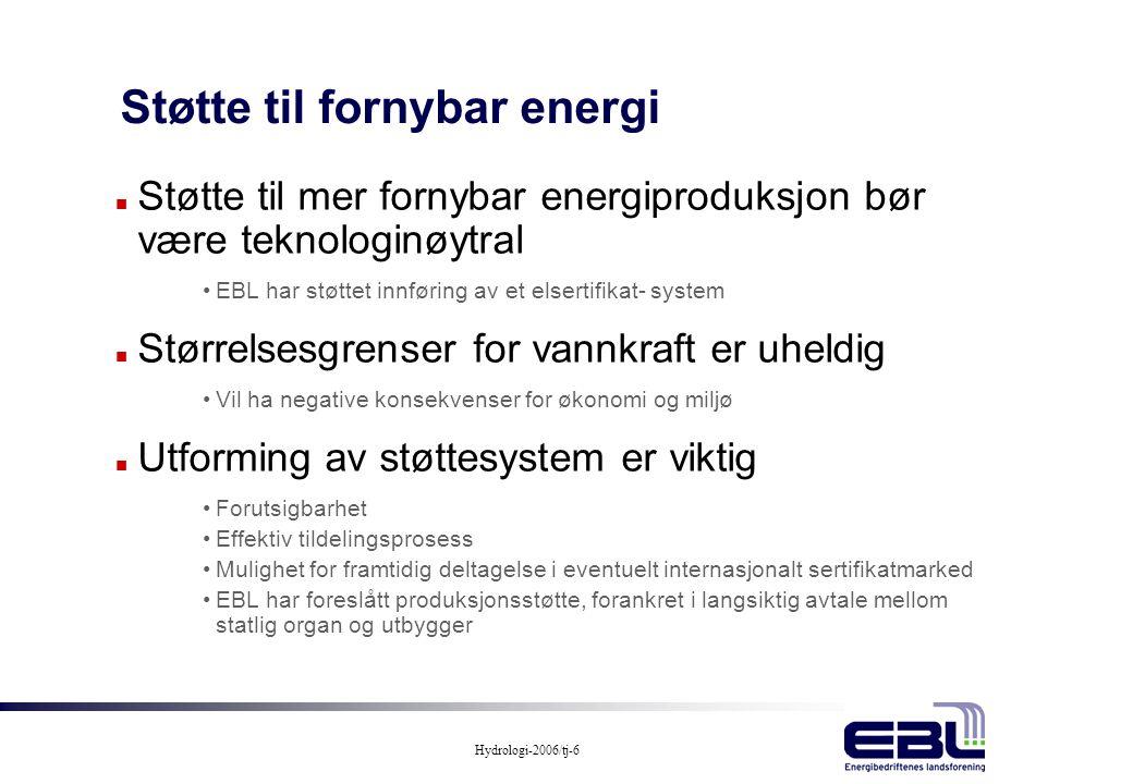 Støtte til fornybar energi