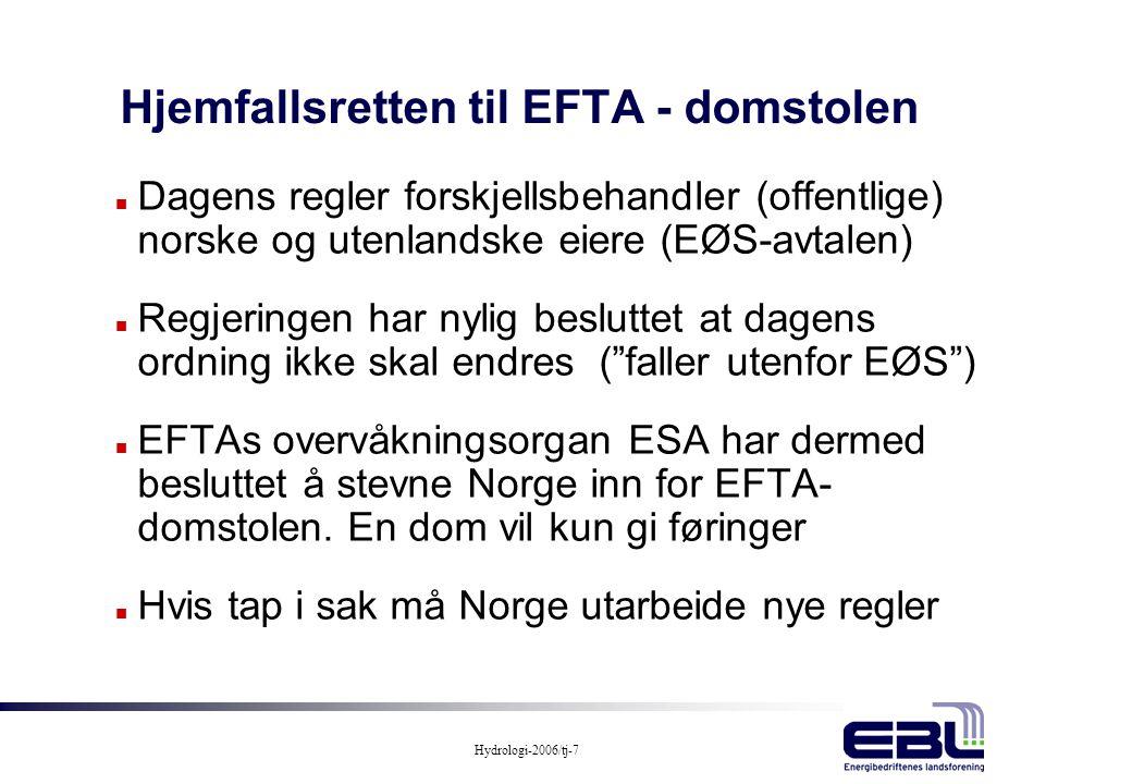 Hjemfallsretten til EFTA - domstolen