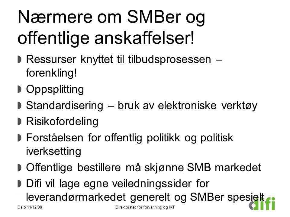 Nærmere om SMBer og offentlige anskaffelser!