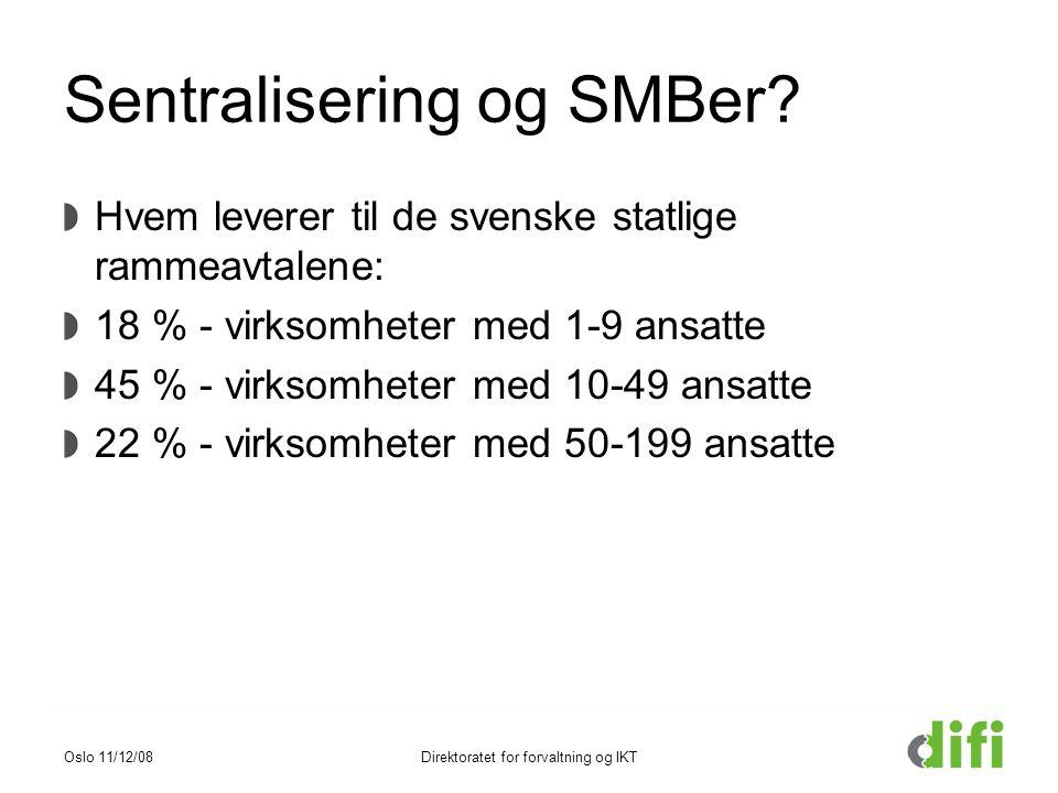 Sentralisering og SMBer