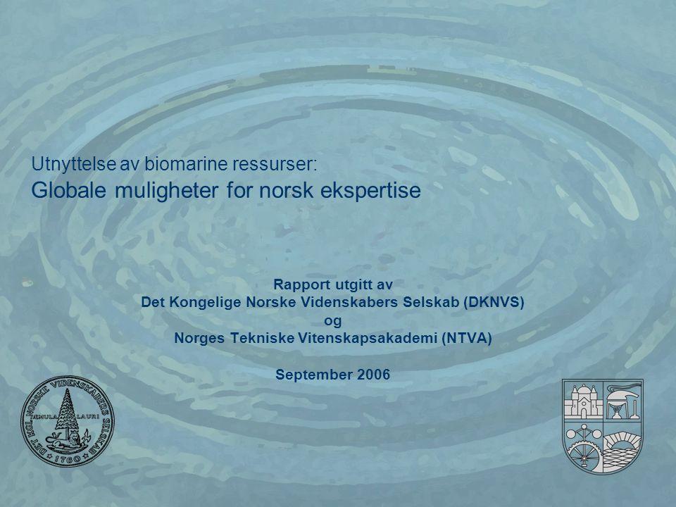 Utnyttelse av biomarine ressurser: Globale muligheter for norsk ekspertise