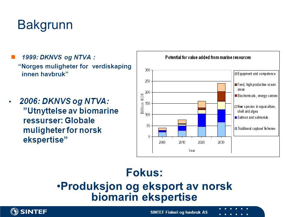 Produksjon og eksport av norsk biomarin ekspertise