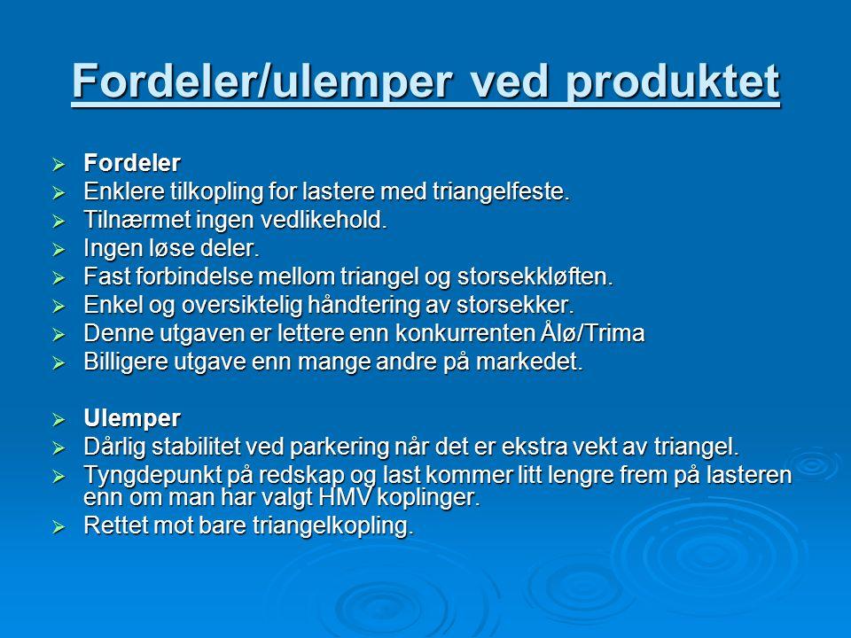 Fordeler/ulemper ved produktet