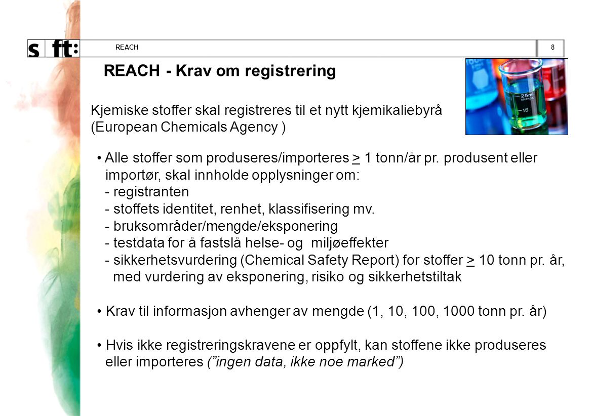 REACH - Krav om registrering