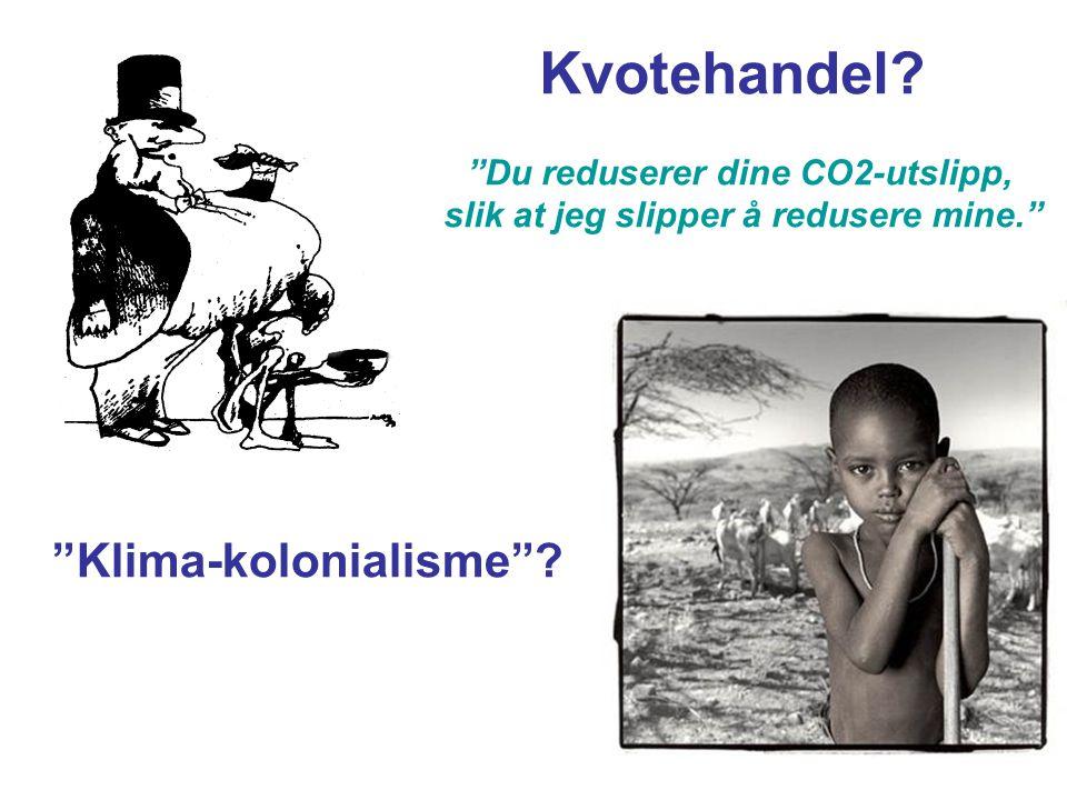 Kvotehandel Klima-kolonialisme Du reduserer dine CO2-utslipp,
