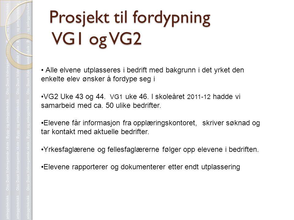 Prosjekt til fordypning VG1 og VG2