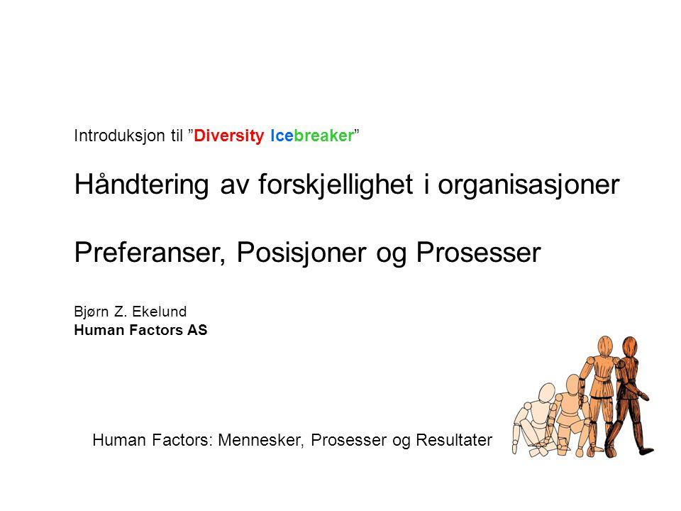 Håndtering av forskjellighet i organisasjoner