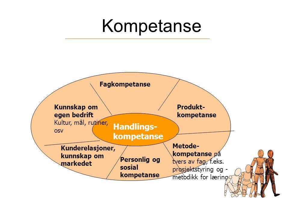 Kompetanse Handlings-kompetanse Fagkompetanse