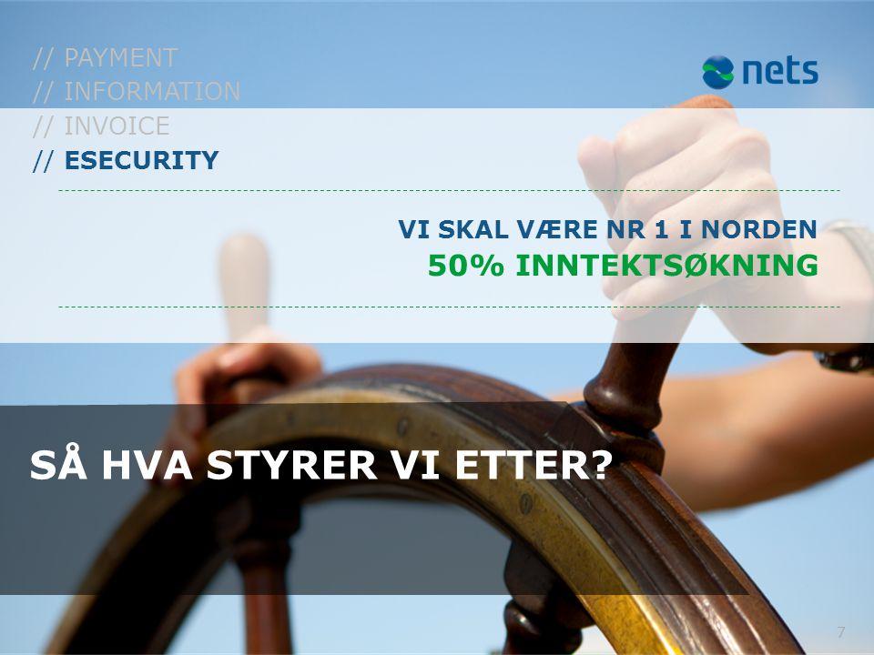 SÅ HVA STYRER VI ETTER 50% INNTEKTSØKNING // PAYMENT // INFORMATION