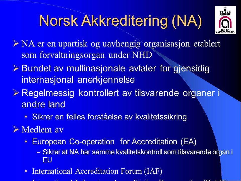 Norsk Akkreditering (NA)