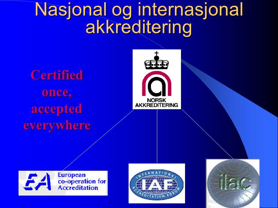 Nasjonal og internasjonal akkreditering