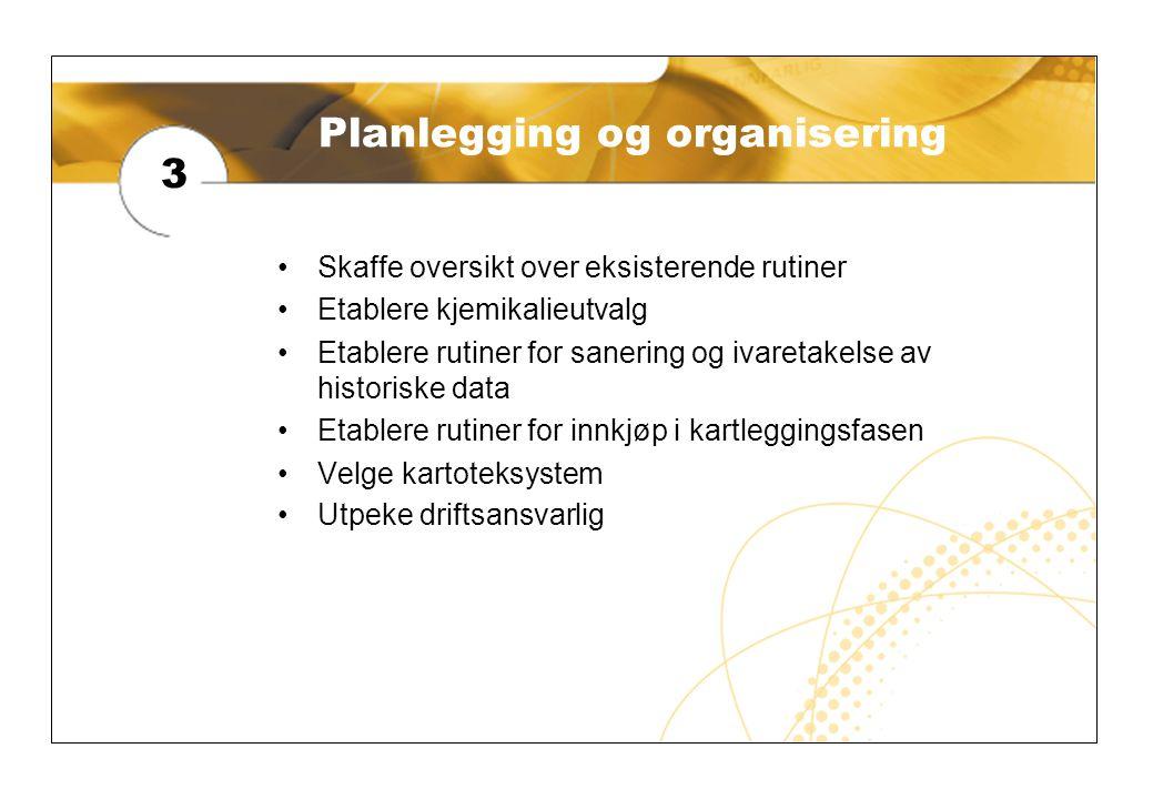 Planlegging og organisering
