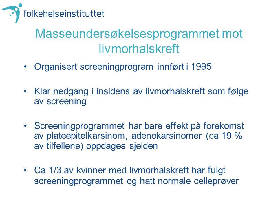 Masseundersøkelsesprogrammet mot livmorhalskreft