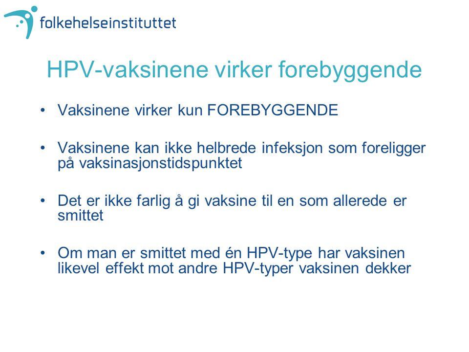 HPV-vaksinene virker forebyggende