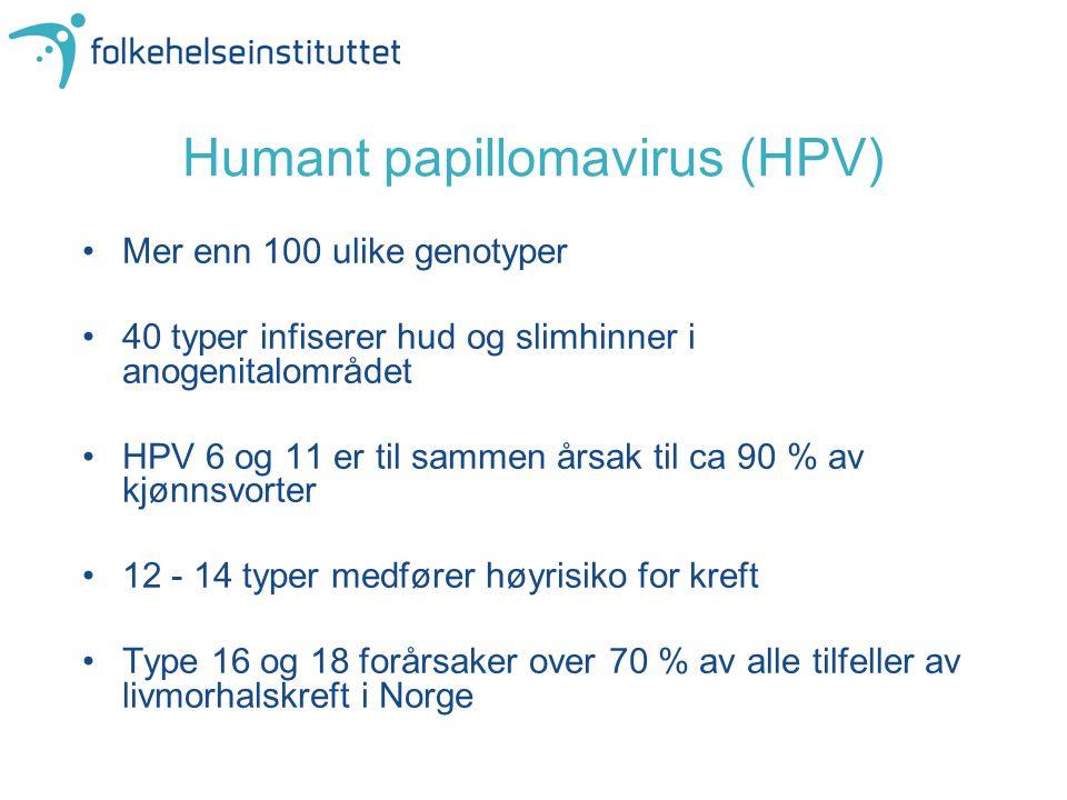 Humant papillomavirus (HPV)