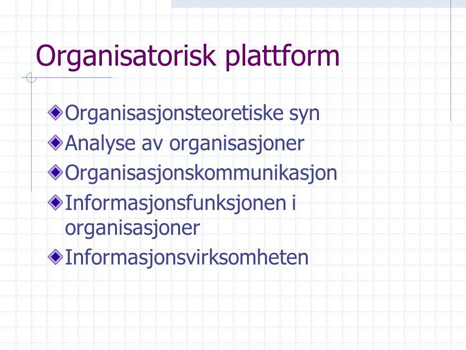 Organisatorisk plattform