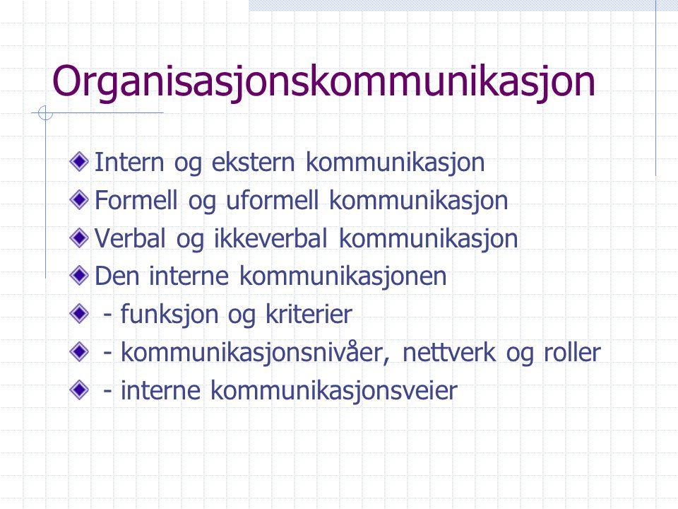 Organisasjonskommunikasjon