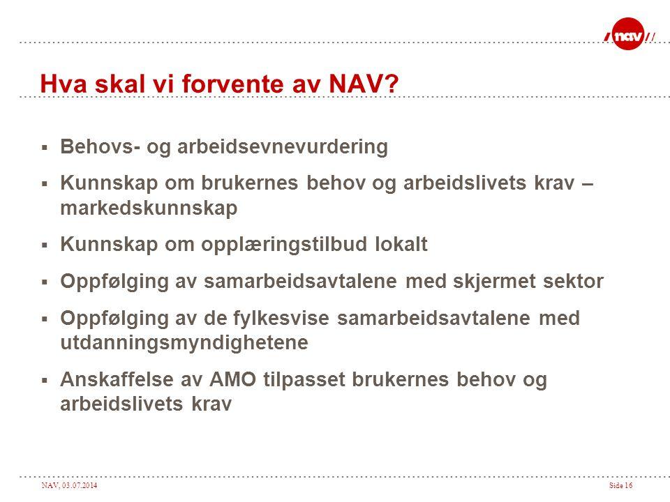 Hva skal vi forvente av NAV