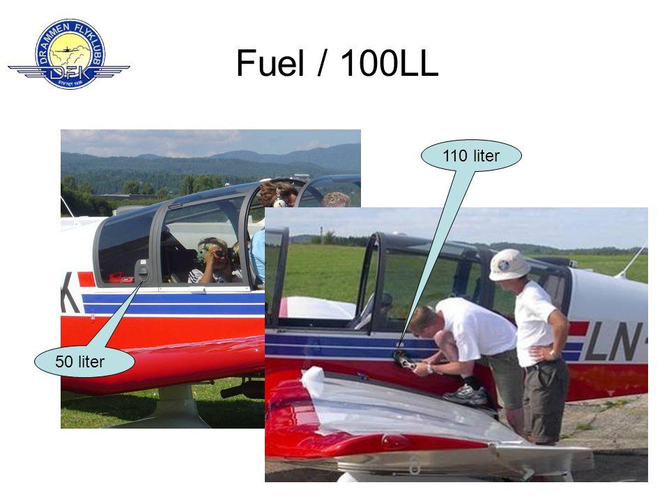 Fuel / 100LL 110 liter 50 liter