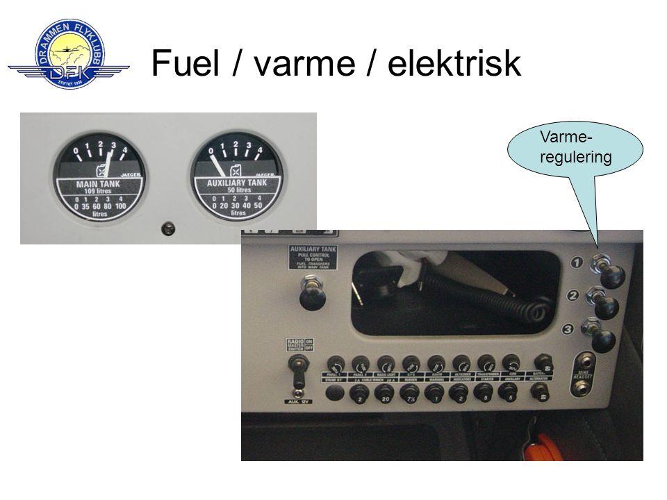 Fuel / varme / elektrisk