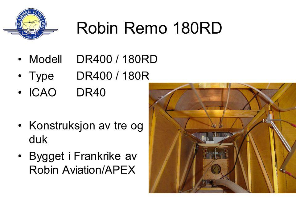 Robin Remo 180RD Modell Type ICAO Konstruksjon av tre og duk