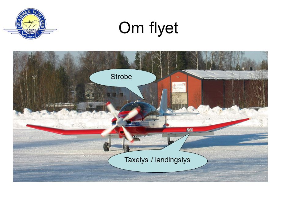 Om flyet Strobe Taxelys / landingslys