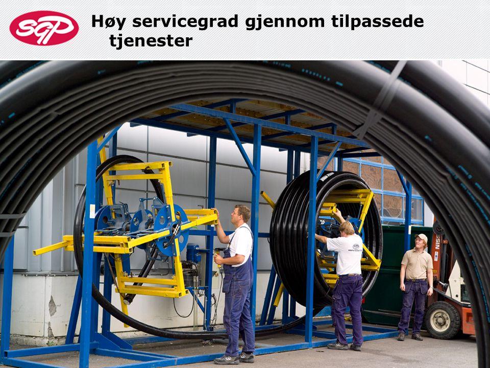 Høy servicegrad gjennom tilpassede tjenester